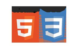 Logotipos do HTML5 e CSS3